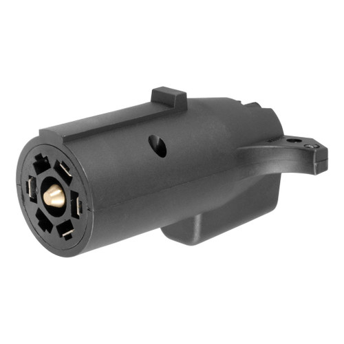 CURT 7-Way Round RV To 5-Way Flat Adapter #57250 Image 1