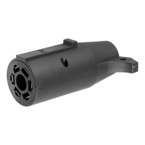 CURT 7-Way Round RV To 6-Way Round Adapter #57260 Image 1