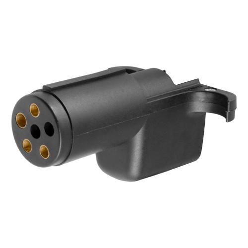 CURT 6-Way Round To 4-Way Flat Wiring Adapter #57620 Image 1