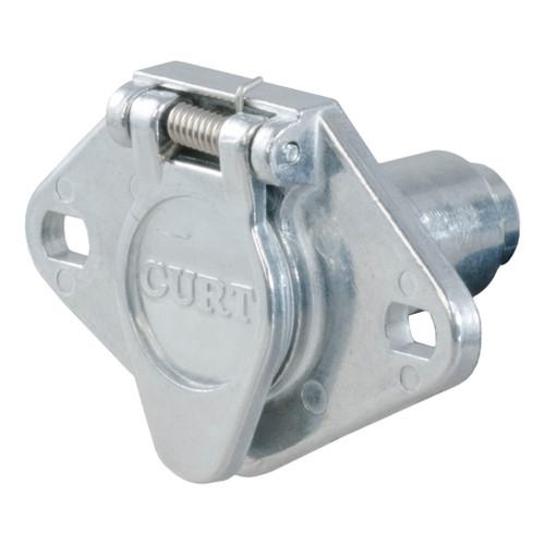 CURT 4-Way Round Socket, Vehicle End #58071 Image 1