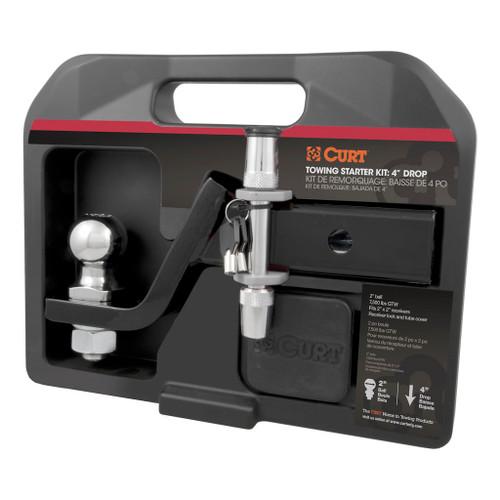 """CURT Towing Starter Kit w/ 4"""" Drop Ball Mount #45554 Image 1"""