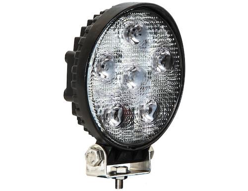 Round Clear LED Flood Light - 12-24V - Black Housing - 1492115