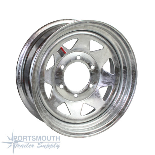"15"" Wheel - 6 Lug - Galvanized"