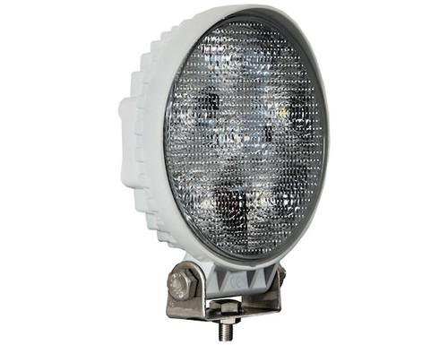 Round Clear LED Flood Light - 12-24V - White Housing - 1493215