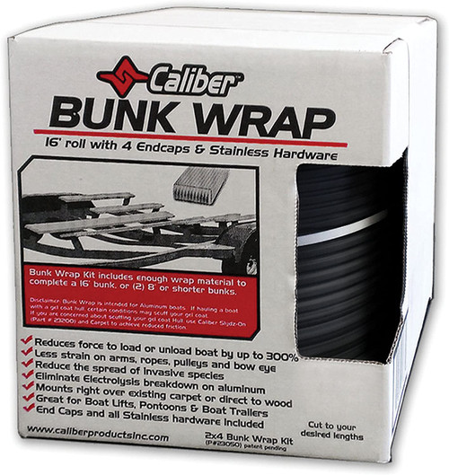 "Black 2"" x 6"" Trailer Bunk Wrap Kit - 23052BLK"