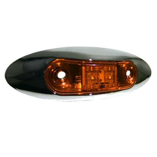 Light LED Small Amber Chrome -  C322A