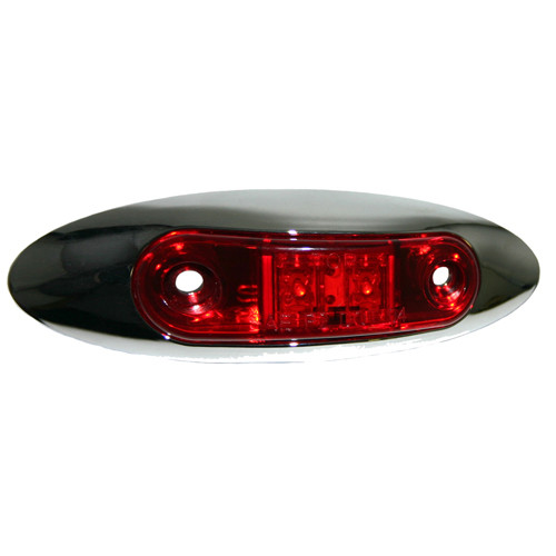 Light LED Small Red Chrome - C322R