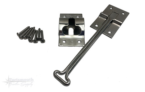 "6"" T LATCH DOOR HOLDER SS"