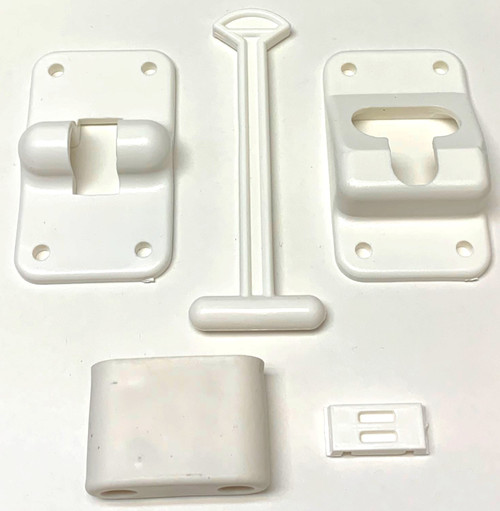 "T LATCH DOOR HOLDER 4"" WHITE"
