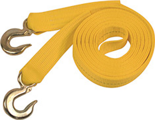 """RECOVERY TOW STRAP W/TOW HOOKS 2"""" X 25'"""