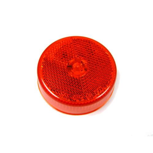 "LIGHT LED 2.5"" RED W/REFLEX 8 LED'S"