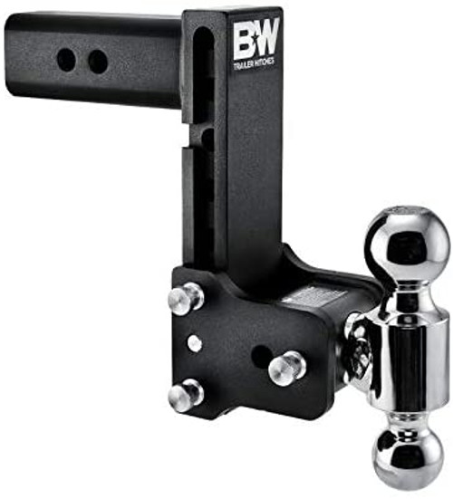 "Tow & Stow Adjustable Ball Mount -2 5/16"" x 2"" Balls, 2.5"" Shank 7"" Drop, 7 1/2"" Rise"