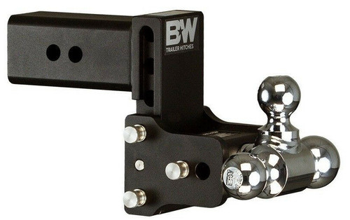 "Tow & Stow Adjustable Tri Ball Mount - 4-1/2"" Drop, 4"" Rise,  3"" Hitch"