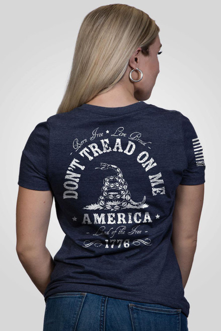 Nine Line Apparel -Women's-Don't Tread on Me-V-Neck T-Shirt