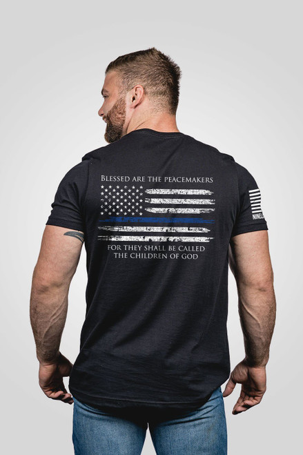 Nine Line Apparel -Thin Blue Line Flag T-Shirt