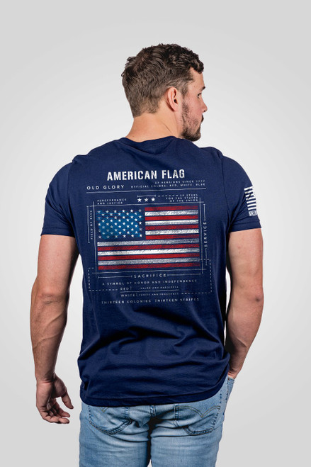 Nine Line Apparel -American Flag Schematic T-Shirt