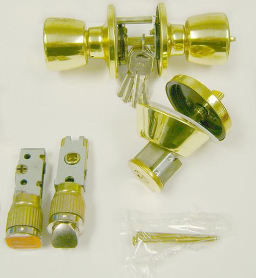Door Lock Combo Set Brass - B295125