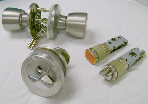 Door Lock Combo Set Stainless - B295126