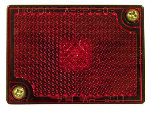 "2-3/4"" x 2-1/8"" Side Marker Light w/ Reflex - Red - PMM114R"