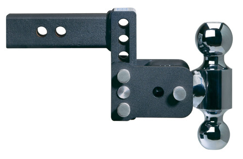 "Adjustable Ball Mount - 3"" Drop & 3-1/2"" Rise with 2"" & 2-5/16"" Trailer Balls"