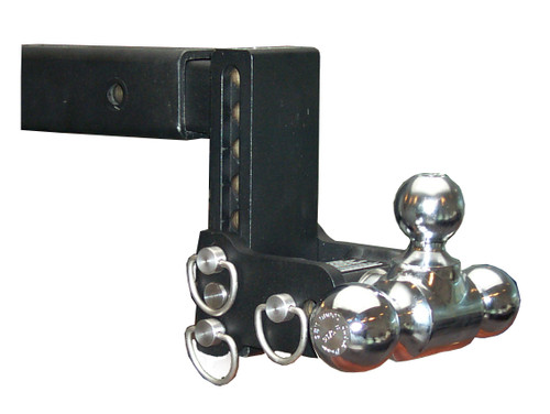 "Adjustable Ball Mount - 7"" Drop & 7-1/2"" Rise with 1-7/8"", 2"" & 2-5/16"" Trailer Balls - TS10049B"