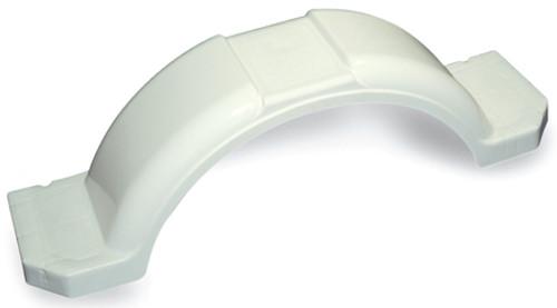 "45"" White Plastic Fender - fits 14"" - 15"" tires"