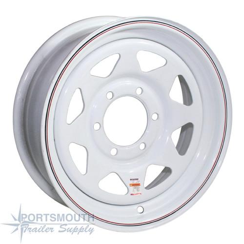 """16"""" Wheel - 6 Lug - White - TM166LP"""
