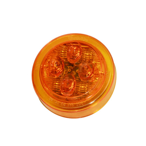 "2-1/2"" Round Side Marker Light - Amber - TRK10385Y"