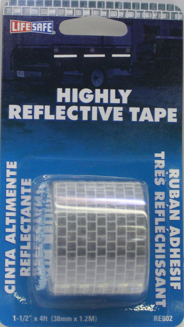 """1.50"""" Silver Reflective Tape - 4' - RE802"""