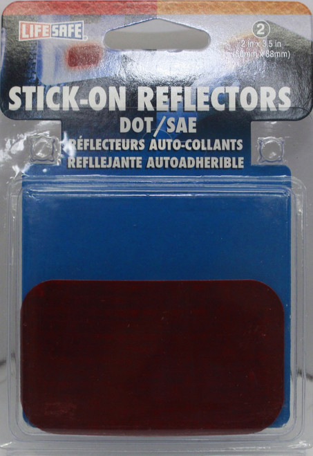 """2"""" x 3.50"""" Stick-on Red Reflectors - Rectangle - RE7071"""