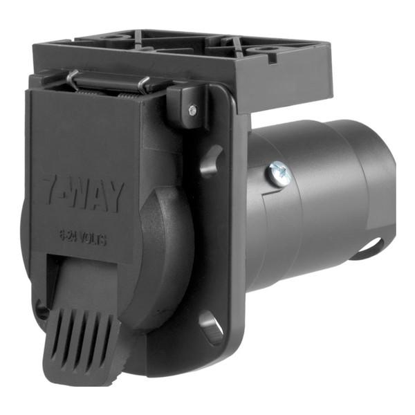 CURT 7-Way Round RV Blade Wiring Connector #58417 Image 1