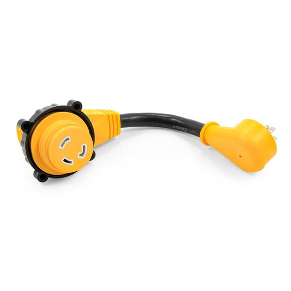 "Camco 15AM/30AF Power Grip Dogbone 12"" Locking Adapter"
