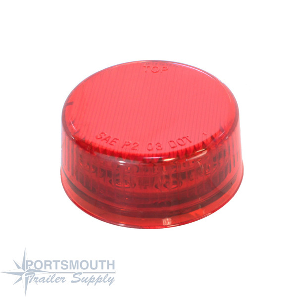 """CUSTER 2"""" RED LED ROUND"""