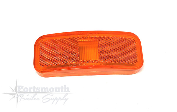 """LENS-REPLACEMENT AMBER CPL126A  4"""" X1.5"""