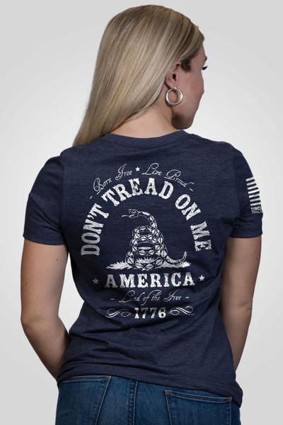 Nine Line Apparel -Women's-Don't Tread on Me-V-Neck T-Shirt