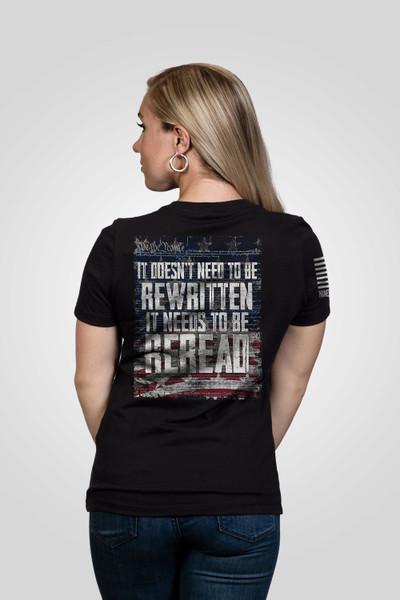 Nine Line Apparel -Women's ReRead not ReWritten - V-Neck T-Shirt