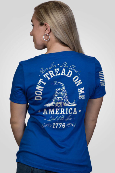 Nine Line Apparel -Women's Don't Tread on Me- V-Neck T-Shirt