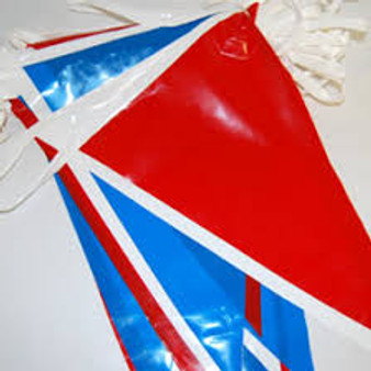 Red White and Blue Poly Pennants