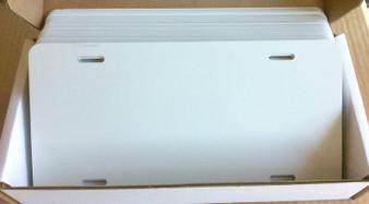 Aluminum License Plates CASE 6 x 12 x .032