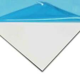 "Aluminum White .080 - PVC 1 SIDED - 6"" x 24"""