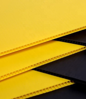 Corrugated Plastic Yellow 48 x 96 x 4mm