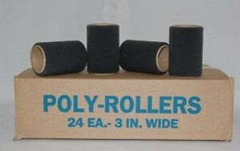 Black Poly Foam Rollers