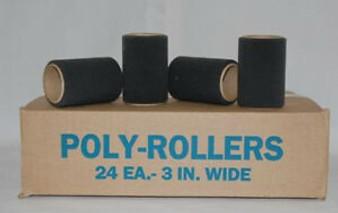 Black Poly Foam Rollers