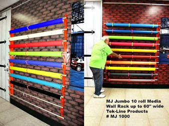 Mondo Raxx Jumbo Wall Mount Media Storage (10 Rolls of Vinyl)