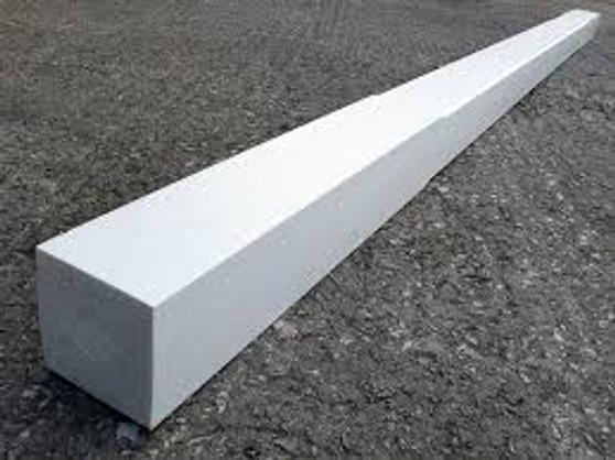 "4"" x 4"" x 10' Wood Post Gloss White"