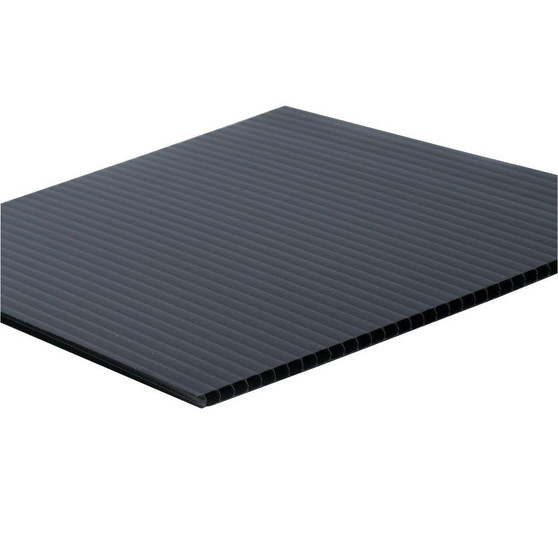 Corrugated Plastic Black 48 x 96