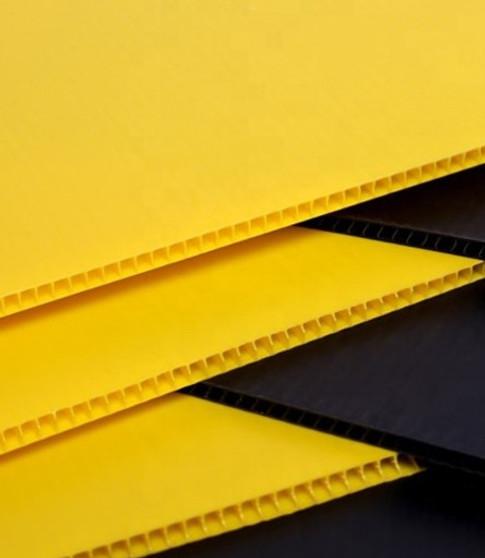 Corrugated Plastic Yellow 48 x 96 x 4mil