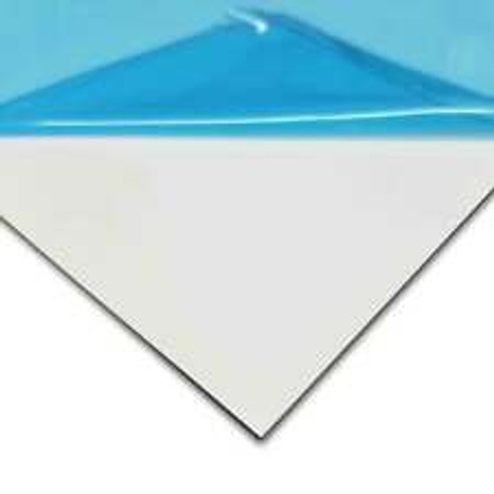 "Aluminum White .080 - PVC 1 SIDED - 12"" x 18"""