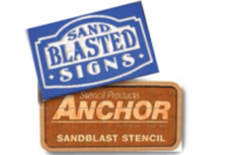 Anchor 117 SignBlast Stencil