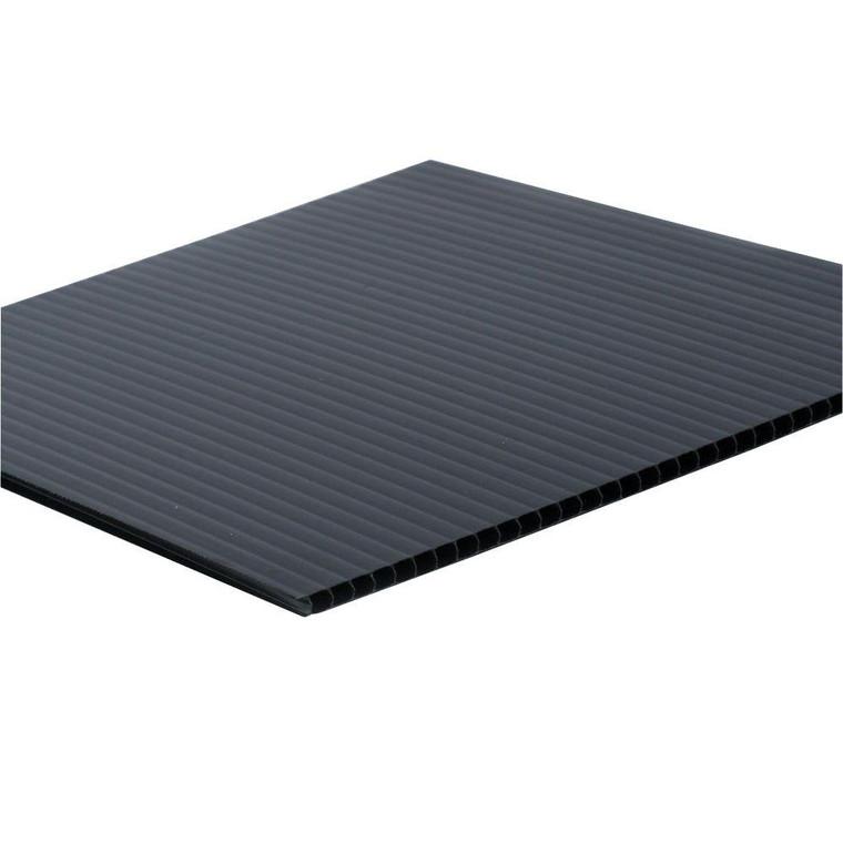 Corrugated Plastic Black 48 x 96
